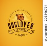 Stock vector vintage bulldog logo graphic design template for your business vector dog icon 203546734