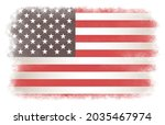 flag of usa in grunge style. | Shutterstock .eps vector #2035467974
