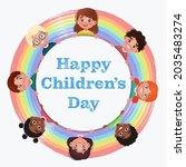 happy children's day. children...   Shutterstock .eps vector #2035483274