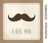 vintage greeting card for man ... | Shutterstock .eps vector #203548801