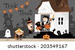 halloween house b | Shutterstock .eps vector #203549167