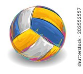 volleyball | Shutterstock .eps vector #203552557