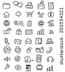 web icons  buttons  note vector  | Shutterstock .eps vector #203554321