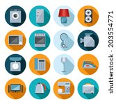 set of household appliances... | Shutterstock .eps vector #203554771