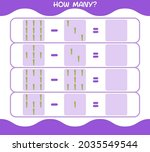 how many cartoon asparagus.... | Shutterstock .eps vector #2035549544