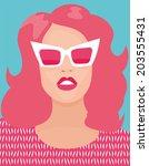 poster woman | Shutterstock .eps vector #203555431