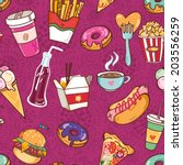 vector seamless pattern of fast ...