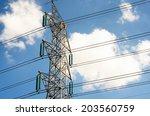 power transmission lines...   Shutterstock . vector #203560759
