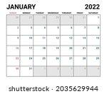 2022 january calendar vector...   Shutterstock .eps vector #2035629944