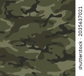 camouflage seamless pattern...   Shutterstock .eps vector #2035637021