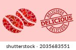 distress delicious stamp seal ... | Shutterstock .eps vector #2035683551