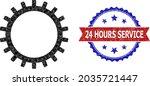 low poly gear polygonal symbol... | Shutterstock .eps vector #2035721447