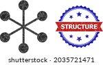 lowpoly net structure polygonal ... | Shutterstock .eps vector #2035721471