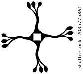square floral design or frame... | Shutterstock .eps vector #2035775861