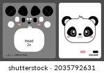 panda head pattern for kids...   Shutterstock .eps vector #2035792631