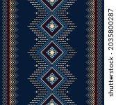navy blue geometric ethnic... | Shutterstock .eps vector #2035800287