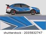 car livery wrap decal  rally... | Shutterstock .eps vector #2035832747