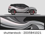 car livery wrap decal  rally... | Shutterstock .eps vector #2035841021