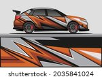 car livery wrap decal  rally... | Shutterstock .eps vector #2035841024