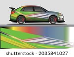 car livery wrap decal  rally... | Shutterstock .eps vector #2035841027