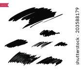 background  hand drawn black... | Shutterstock .eps vector #203588179