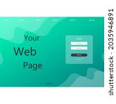 web abstract landing page login ...