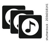 playlist song album icon simple ...
