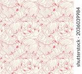 gentle pink two colors peony...   Shutterstock .eps vector #2036039984