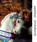 Carousel Horse With Motion Blu...