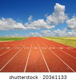 running track with eight lanes... | Shutterstock . vector #20361133