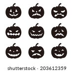 Halloween Pumpkins With Variou...