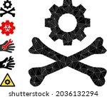 triangle death mechanics... | Shutterstock .eps vector #2036132294