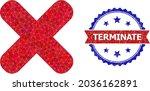 lowpoly terminate polygonal... | Shutterstock .eps vector #2036162891