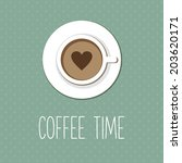 vintage card  coffee shop menu  ... | Shutterstock .eps vector #203620171