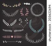 wedding wreaths and laurels ... | Shutterstock .eps vector #203622694