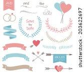 wedding graphic set  arrows ... | Shutterstock .eps vector #203622697