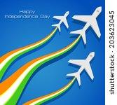 vector illustration of airplane ... | Shutterstock .eps vector #203623045
