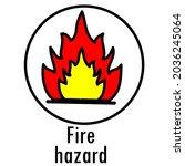 danger icon. warning danger...   Shutterstock .eps vector #2036245064