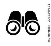 binoculars icon or logo... | Shutterstock .eps vector #2036249831