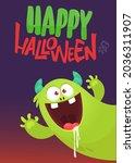 artoon monster character.... | Shutterstock .eps vector #2036311907