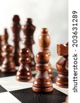 chess board with chess pieces... | Shutterstock . vector #203631289