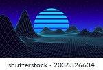 retro fantastic background of... | Shutterstock .eps vector #2036326634