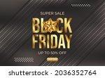 black friday super sale banner... | Shutterstock .eps vector #2036352764