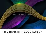 colorful dynamic dimension... | Shutterstock .eps vector #2036419697