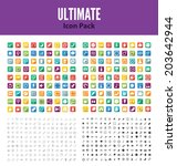 ultimate icon set multiple... | Shutterstock .eps vector #203642944