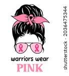 breast cancer awareness. messy... | Shutterstock .eps vector #2036475344