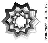 sharp  edgy starburst  sunburst ...   Shutterstock .eps vector #2036480117