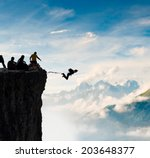 rope jumping | Shutterstock . vector #203648377