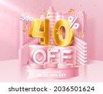 40  off. discount creative... | Shutterstock .eps vector #2036501624