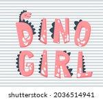 dino girl vector illustration.... | Shutterstock .eps vector #2036514941